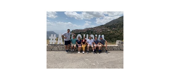 Delphi full day private tour from Athens: Took a nice picture by the Arachova - location was recommended by our tour guide...
