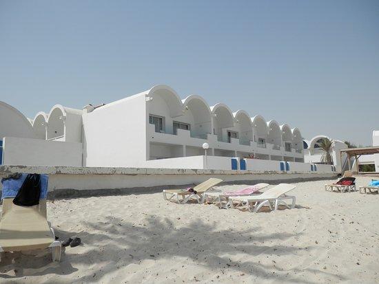 Dar Jerba Narjess: Horší pláž