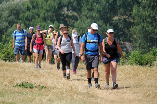 Jurassic Coast Guides: Clients enjoying their charity walk that we led