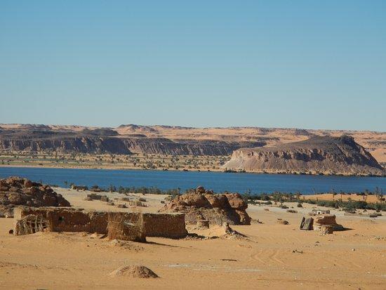 Ennedi Region, Chad: Village by Lakes of Ounianga