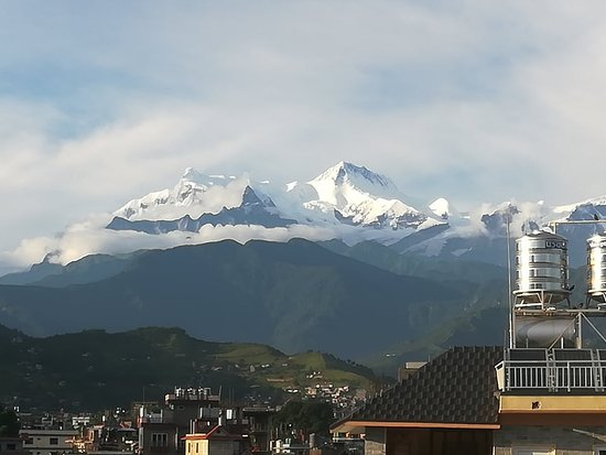Monsoon view to Annapurna range from South part f Of Lakeside.