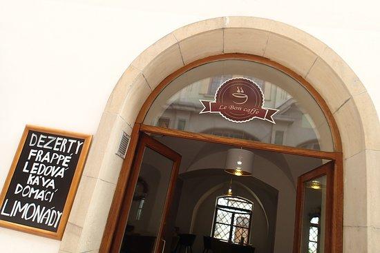 Enter the cosy café