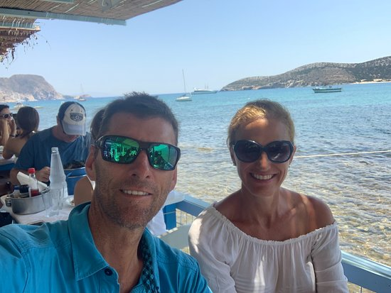 Front row seats with Antiparos in the background