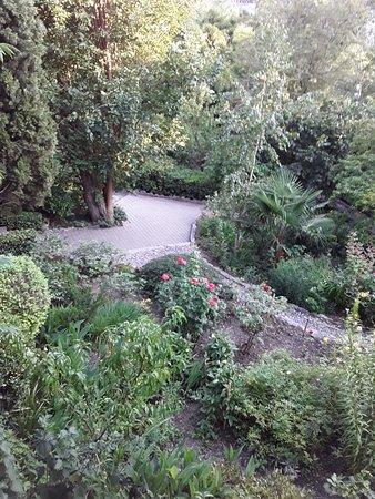 Сад имеет несколько уровней