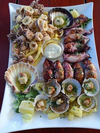 Gasthaus Geronimo: Calamariplatte für Zwei + Kammmuscheln :)