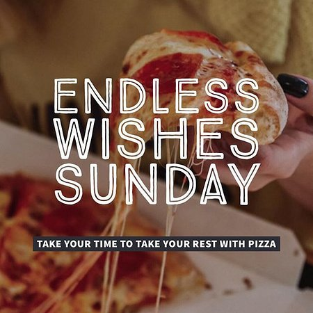 Take your time to take your rest with one of our pizzas 🍕. Call us for your perfect Sunday.