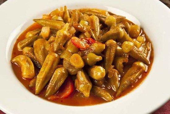 сегодня особенное:  ба́мия, (окра), (без мяса) 300 г - 150 руб