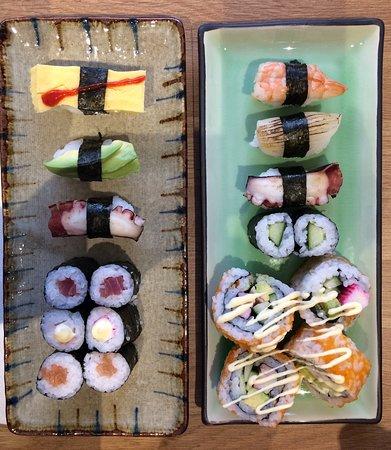 Beautiful tasty sushi