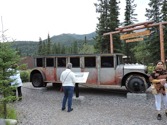 One of the original vehicles used for tundra tours back in the 1930's. Very few of these custom vehicles were ever built.