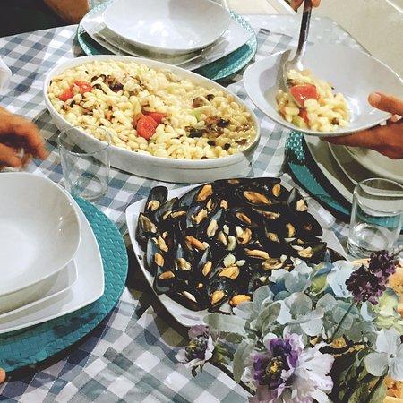 La cena preparata dal titolare
