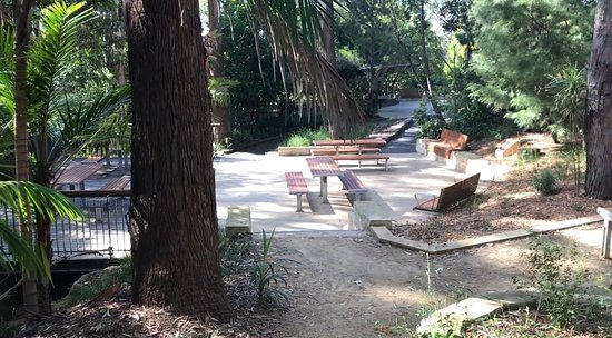 Upgraded modern picnic and BBQ area