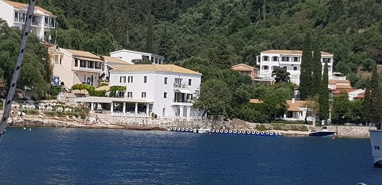 Durrells white house from the boat
