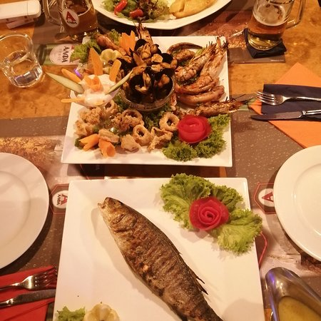 Mixed seafood plus fish for two