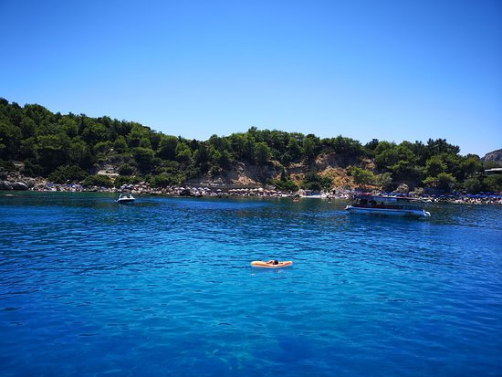 Day Cruise by a Sailing Yacht to the most beautiful bays or Rhodes (Small Group): great place to swim