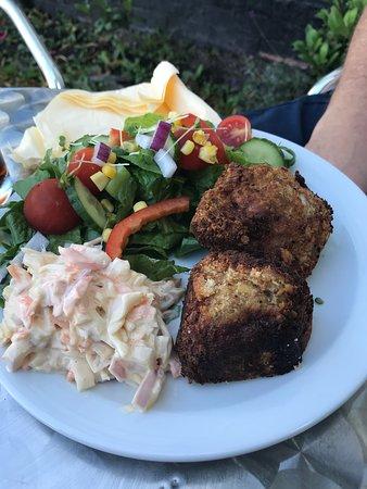 scotch egg, coleslaw & side salad