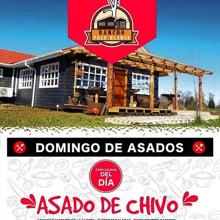 Rio Negro, Χιλή: Nuestro buffet de asado al palo . Somos productores de nuestros alimentos (carne y hortalizas)