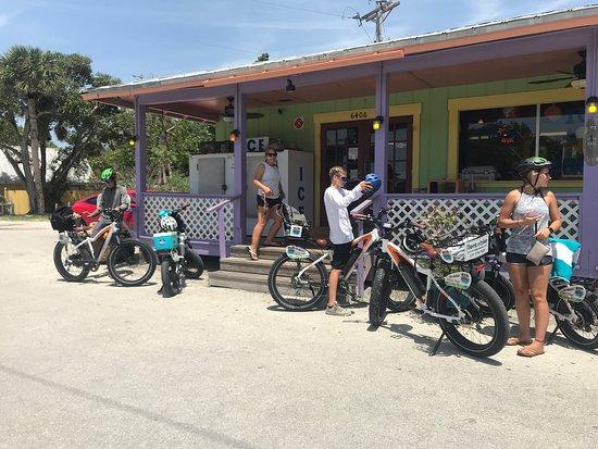 Riding ebikes on Sanibel Island