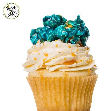 Sweet Popp Shopp Caramel Popcorn Cupcake