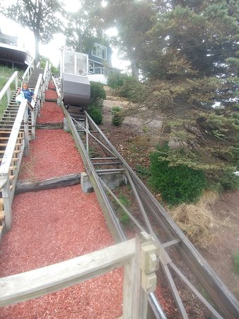 The stairs and the trolley are the only ways to access Looking Glass.