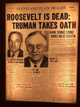 Harry S. Truman Library and Museum: Newspaper article about President Roosevelt's death