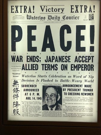 Harry S. Truman Library and Museum: Newspaper article about the end of WWII