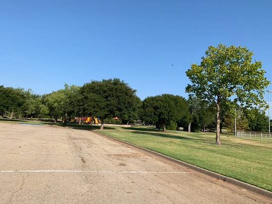 Parking area in the center of the park.