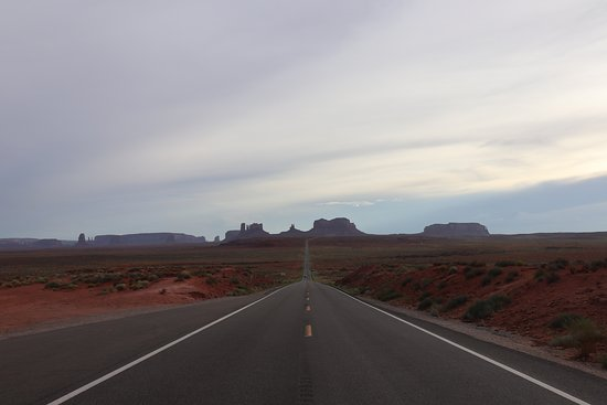 The iconic Monument Valley pano before entering the actual valley on highway 163.