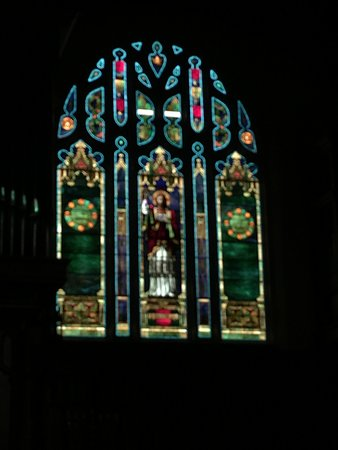 Stained Glass Window in 1895 Church