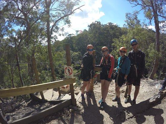 Gold Coast Canyon Flyer Zipline Tour: Group photo taken by Dale