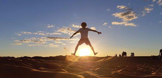 Por do sol nas dunas