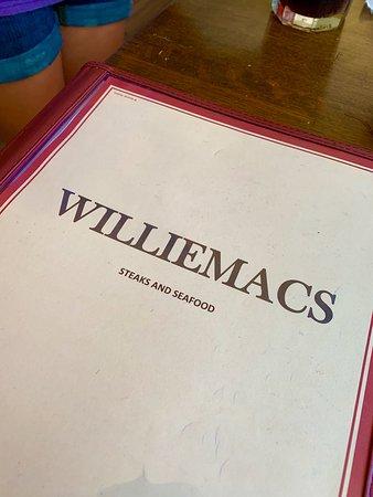 Lincolnton, GA: Willie Mac's Menu