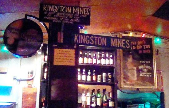 Kingston Mines inside sign #2