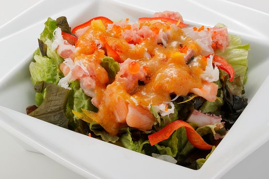 Harvest Salad -From the Sea- with Our Special Grated Vegetable Dressing