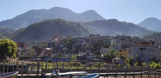 Santiago Atitlán is set within an inlet on the southwest corner of Lake Atitlán and lies in the shadow of the San Pedro, Atitlán, and Tolimán volcanoes. Santiago Atitlán is one of the largest lakeside villages and also one of the most traditional.