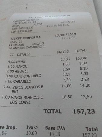 El Canto del Palasiet: Salimos a 40 € por persona.