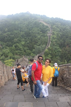 Great Wall at Mutianyu from Beijing by Bus with Lunch: just walked till few gates to see the houses in the wall