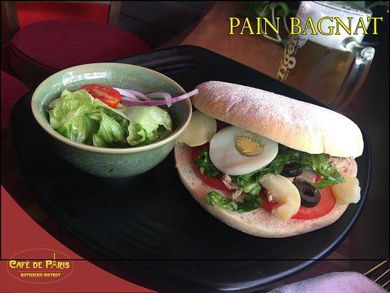 Plusieurs Variétés de Sandwich dont le Pain Bagnat