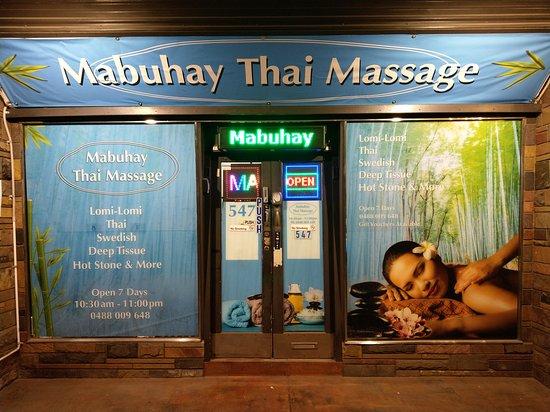 Northcote, Ausztrália: Mabuhay Thai Massage Shop Front