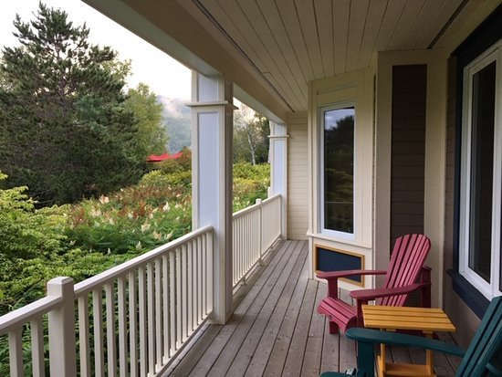 Porch off one-bedroom unit, ground level.