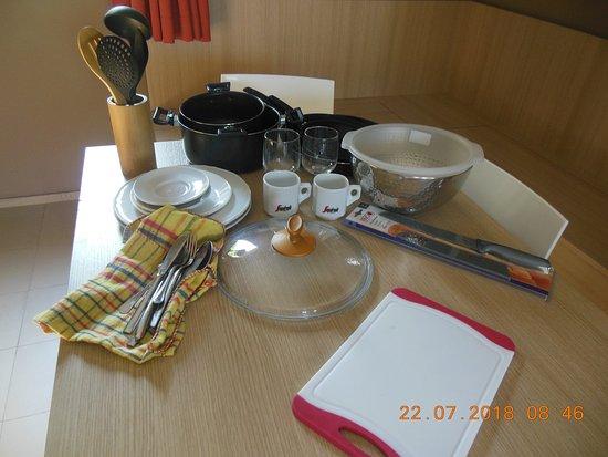 Le Residenze Archimede: ustensiles de cuisines 10€/ jours