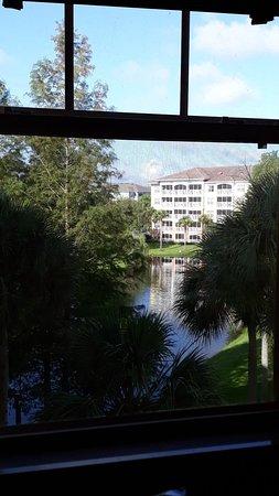 Vista al lago desde el comedor!!!.lindo!