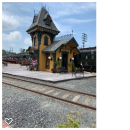 The train station and gift shop