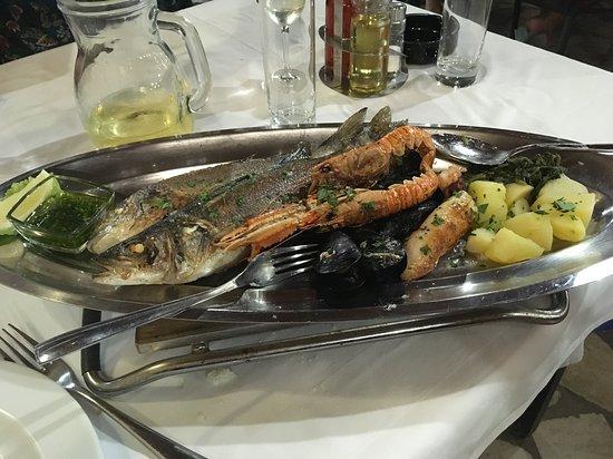 grigliata mista di pesce (per 1 persona)
