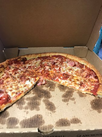 I aint ever had such a bad pizza