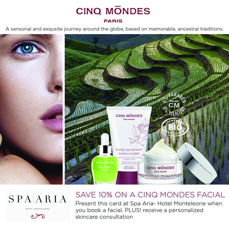 Cinq Monde Paris skin and body care available
