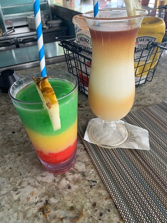 The Bob Marley (left) and Pina Colada (w/ Appleton Rum)....both delicious!