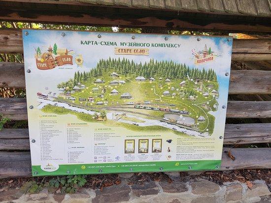 Kolochava, ยูเครน: Mapka Kolochavy a jejich pamětihodností