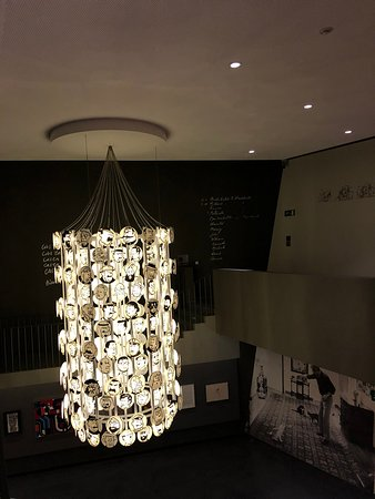 Even the chandelier is thematic