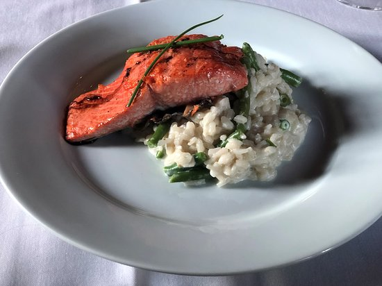 Condon, MT: Salmon with risotto