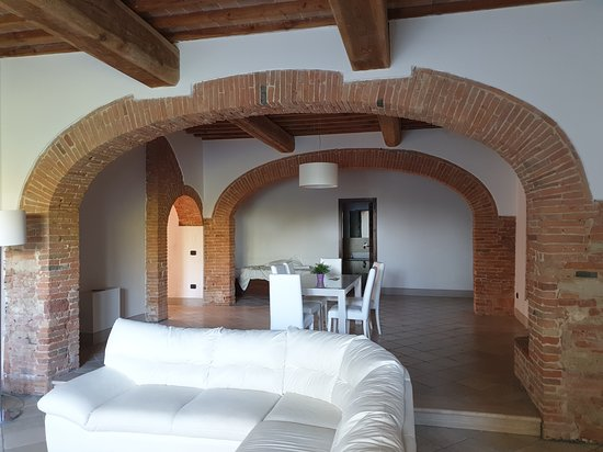 San Ruffino Resort: View from entrance into the suite.